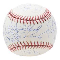 2008 New York Yankees OML Baseball Team-Signed by (29) with Derek Jeter, Mariano Rivera, Alex Rodrig