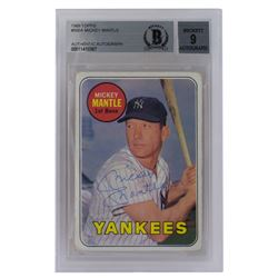 Mickey Mantle Signed 1969 Topps #500A (BGS Encapsulated)