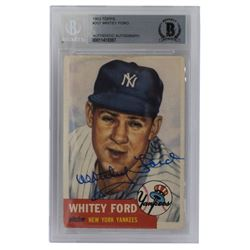 Whitey Ford Signed 1953 Topps #207 (BGS Encapsulated)