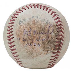 "Jose Altuve Signed 2017 Postseason Game-Used Baseball Inscribed ""17 Game Used ALDS"" (Beckett COA, Fa"