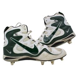 Pair of (2) Reggie White Green Bay Packers Game-Used Nike Cleats (White LOA)
