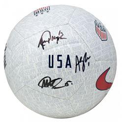 Megan Rapinoe, Alex Morgan  Alyssa Naeher Signed Team USA Nike Soccer Ball (JSA COA)
