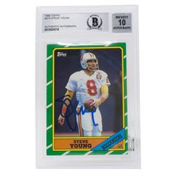 Steve Young Signed 1986 Topps #374 (BGS Encapsulated)