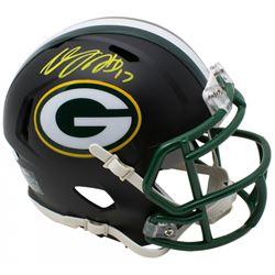 Davante Adams Signed Green Bay Packers Matte Black Speed Mini Helmet (JSA COA)
