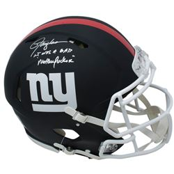 Lawrence Taylor Signed New York Giants Full-Size Matte Black Authentic On-Field Speed Helmet Inscrib
