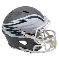 Miles Sanders Signed Philadelphia Eagles Full-Size AMP Alternate Speed Helmet (JSA COA)
