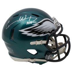"Carson Wentz Signed Philadelphia Eagles Speed Mini Helmet Inscribed ""AO1"" (Fanatics Hologram)"