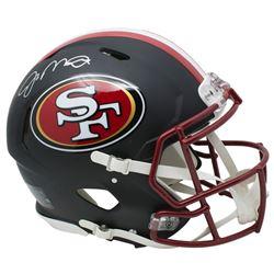 Joe Montana Signed San Francisco 49ers Full-Size Matte Black Authentic On-Field Speed Helmet (JSA CO