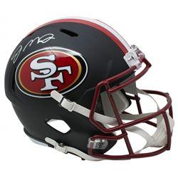 Joe Montana Signed San Francisco 49ers Full-Size Matte Black Speed Helmet (JSA COA)