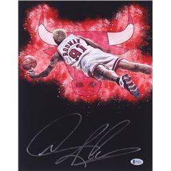 Dennis Rodman Signed Chicago Bulls 11x14 Photo (Beckett COA)