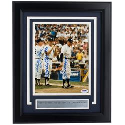Mickey Mantle, Joe DiMaggio  Whitey Ford Signed New York Yankees 11x14 Custom Framed Photo Display (