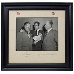"Jim Thorpe Signed 11x14 Custom Framed Photo Display Inscribed ""To My Friend""  ""1952"" (PSA LOA)"