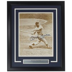 """Mickey Mantle Signed New York Yankees 16x20 Custom Framed Photo Display Inscribed """"No. 7"""" (Beckett L"""