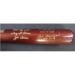 """Joe Torre Signed LE Louisville Slugger Engraved 2014 Hall of Fame Inductees Baseball Bat Inscribed """""""