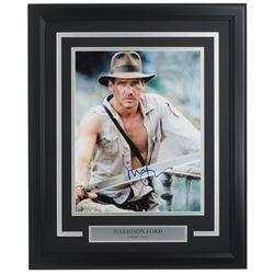 "Harrison Ford Signed ""Indiana Jones"" 16x20 Custom Framed Photo Display (Beckett LOA)"