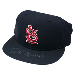 Stan Musial Signed St. Louis Cardinals Fitted Hat (Beckett COA)