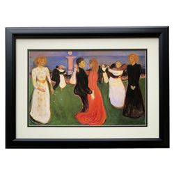 "Edvard Munch ""The Dance of Life"" 18x20 Custom Framed Print Display"