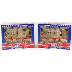 Lot of (2) Vintage 1992 Starting Lineup Team USA Basketball Players Action Figure Sets