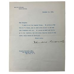 Theodore Roosevelt Signed Letter (Beckett LOA)