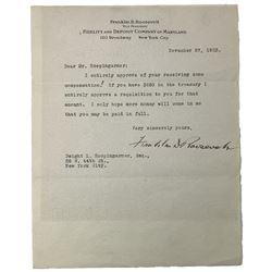Franklin D. Roosevelt Signed Letter (Beckett LOA)