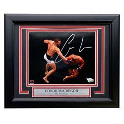 Conor McGregor Signed UFC 11x14 Custom Framed Photo Display (Fanatics Hologram)