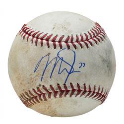 Mike Trout Signed Game-Used OML Baseball (PSA COA  MLB Hologram)