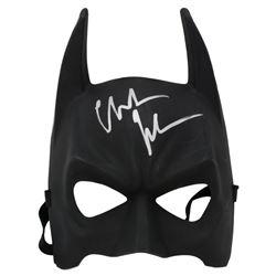 "Christian Bale Signed ""The Dark Knight Trilogy"" Batman Mask (Beckett COA)"