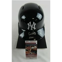 "Don Mattingly Signed New York Yankees Authentic Full-Size Batting Helmet Inscribed ""Hit Man"" (JSA CO"