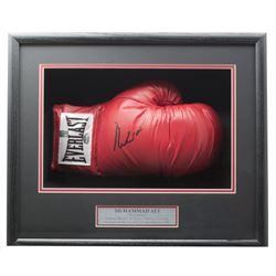 Muhammad Ali Signed 18x19x4 Custom Framed Boxing Glove Shadowbox Display (PSA Hologram  Muhammad Ali
