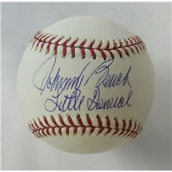 Johnny Bench Signed OML Baseball Inscribed  Little General  (JSA COA)