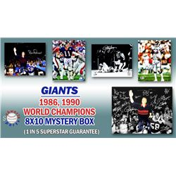 1986, 1990 New York Giants Signed Mystery 8x10 Photo – World Champions Edition – Series 1 - (Lim