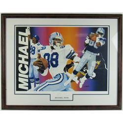 Michael Irvin Signed LE Dallas Cowboys 20x28 Custom Framed Lithograph Display (JSA COA)