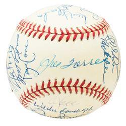 1999 New York Yankees World Series Baseball Team-Signed by (31) with Derek Jeter, Mariano Rivera, Ro