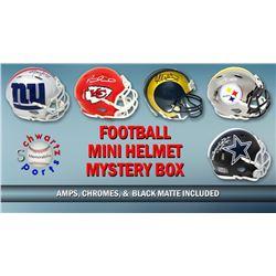 Schwartz Sports Football Superstar Signed Mini Helmet Mystery Box - Series 15 (Limited to 100)