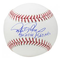 "Rafael Palmeiro Signed OML Baseball Inscribed ""3,020 H / 569 HR's"" (JSA COA)"