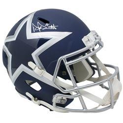 Dak Prescott Signed Dallas Cowboys Full-Size AMP Alternate Speed Helmet (Beckett COA  Prescott Holog