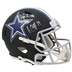 Dak Prescott  Amari Cooper Signed Dallas Cowboys Full-Size Matte Black Speed Helmet (JSA COA  Becket