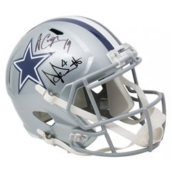 Dak Prescott  Amari Cooper Signed Dallas Cowboys Full-Size Speed Helmet (JSA COA  Beckett COA  Presc