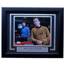"William Shatner Signed ""Star Trek"" 11x14 Custom Framed Photo Display (JSA COA)"