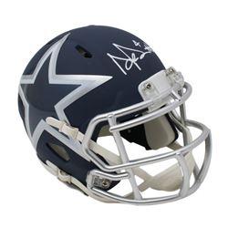 Dak Prescott Signed Dallas Cowboys AMP Alternate Speed Mini Helmet (Beckett COA  Prescott Hologram)