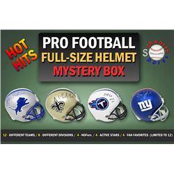 Schwartz Sports HOT HITS Signed Pro Football Full Size Helmet Mystery Box – Series 2 – (Limited