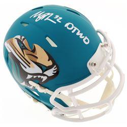"Maurice Jones-Drew Signed Jacksonville Jaguars Speed AMP Mini-Helmet Inscribed ""DTWD"" (Radtke COA)"
