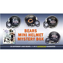Chicago Bears Signed Mystery Box SB XX Champs Mini Helmet – Series 7 - (Limited to 85) *Walter Pay