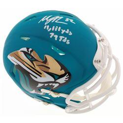"Maurice Jones-Drew Signed Jacksonville Jaguars AMP Speed Mini Helmet Inscribed ""11,111 Yds""  ""79 Tds"