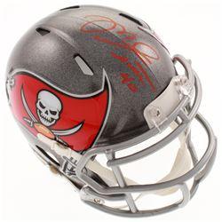 Mike Alstott Signed Tampa Bay Buccaneers Speed Mini-Helmet (Radtke COA)
