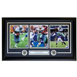 Tony Dorsett, Emmitt Smith  Ezekiel Elliott Dallas Cowboys 19x31 Custom Framed Photo Display