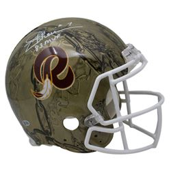 Joe Theismann Signed Washington Redskins Full-Size Authentic On-Field Hydro Dipped Helmet Inscribed