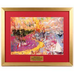 "LeRoy Neiman ""Monte Carlo Grande Prix"" 19.5x24 Custom Framed Print Display"