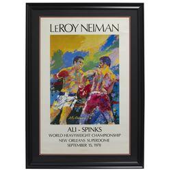 "LeRoy Neiman ""Ali-Spinks"" 24x30 Custom Framed Print Display"