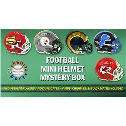 Schwartz Sports Football Superstar Signed Mini Helmet Mystery Box - Series 17 (Limited to 75) - 75 D